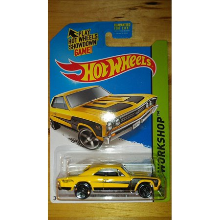 2014 Hot Wheels Hw Workshop '67 Chevelle SS 396 - Yellow [Ships in a Box!], Hot Wheels '67 Chevelle SS 396 By