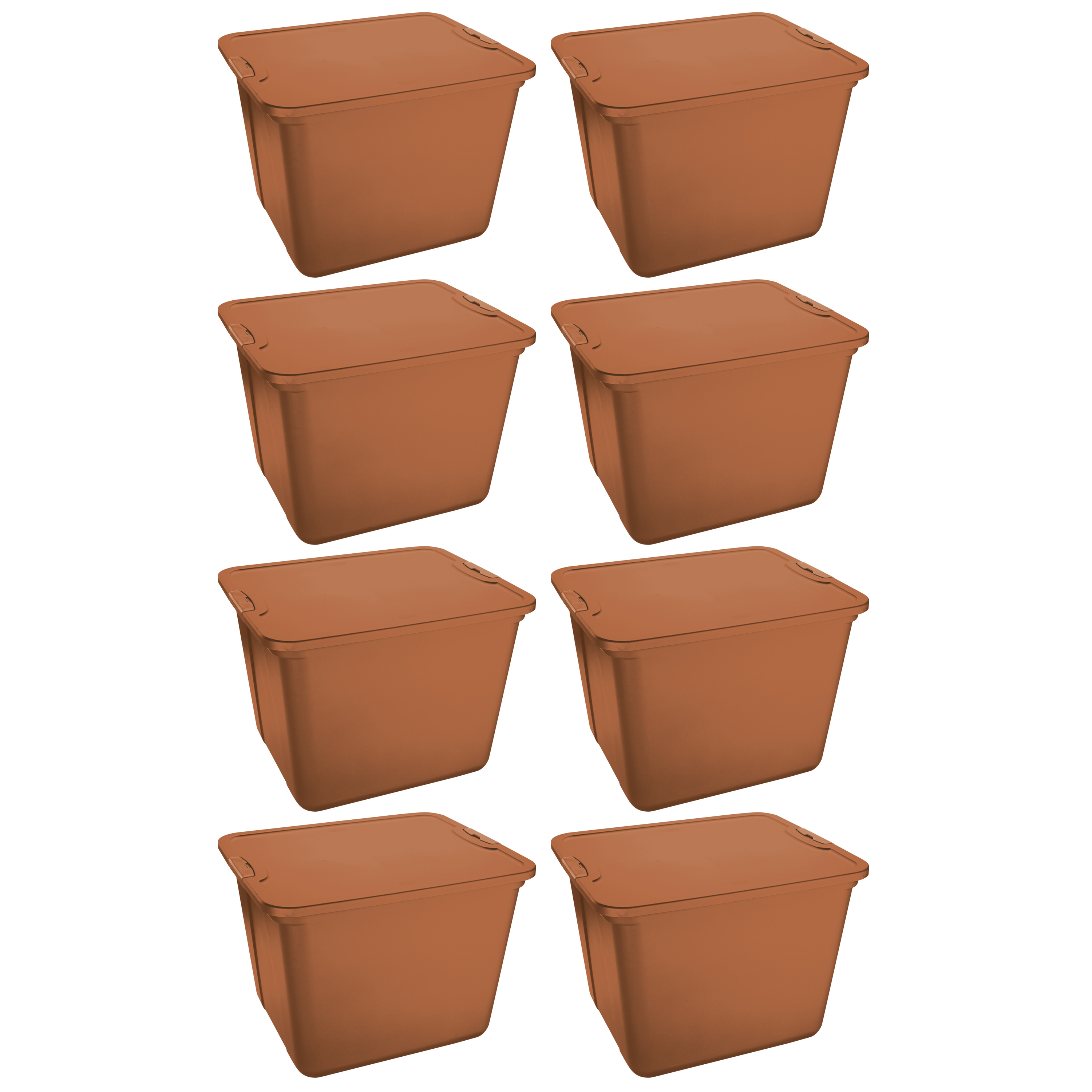 Mainstays 20 gal Latching Handle Storage Totes, Set of 8, Multiple Colors Available