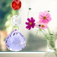 LYUMO Handmade Hanging Pendant Rainbow Crystal Prisms Ball Chandelier Lamp Xmas Window Decor , Rainbow Suncatcher, Crystal Hanging Pendant