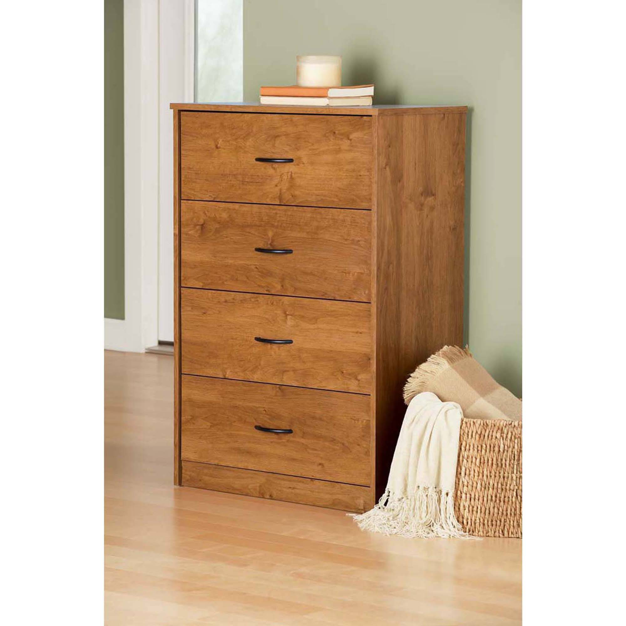 Mainstays 4-Drawer Chest, Alder - Walmart.com