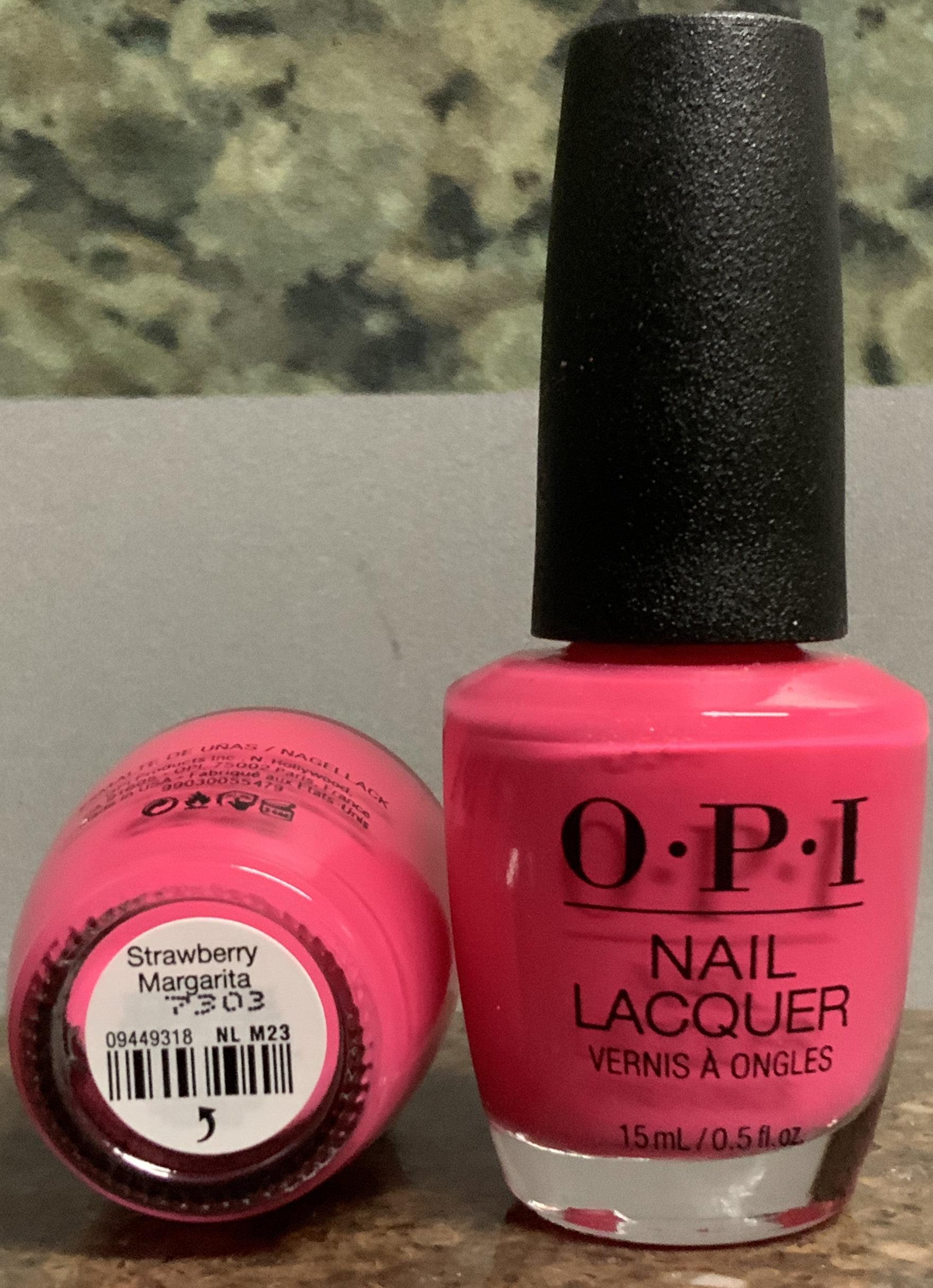 Opi Opi Nail Lacquer Strawberry Margarita 0 5 Fl Oz 2 Bottles Walmart Com Walmart Com
