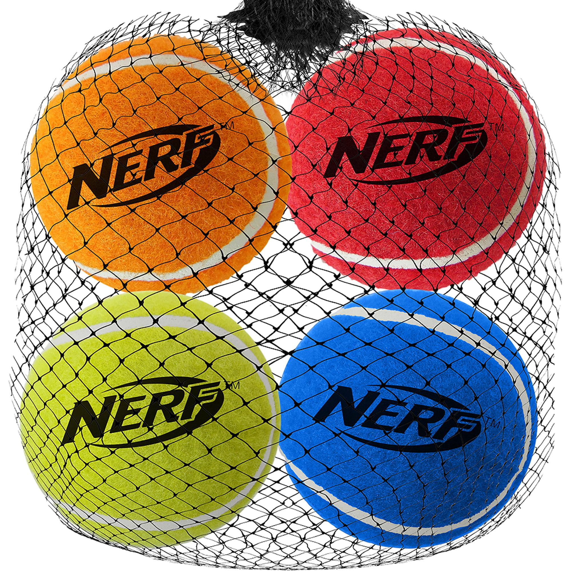 """NERF DOG 2.5"""" Squeak Tennis Balls, 4pk"""