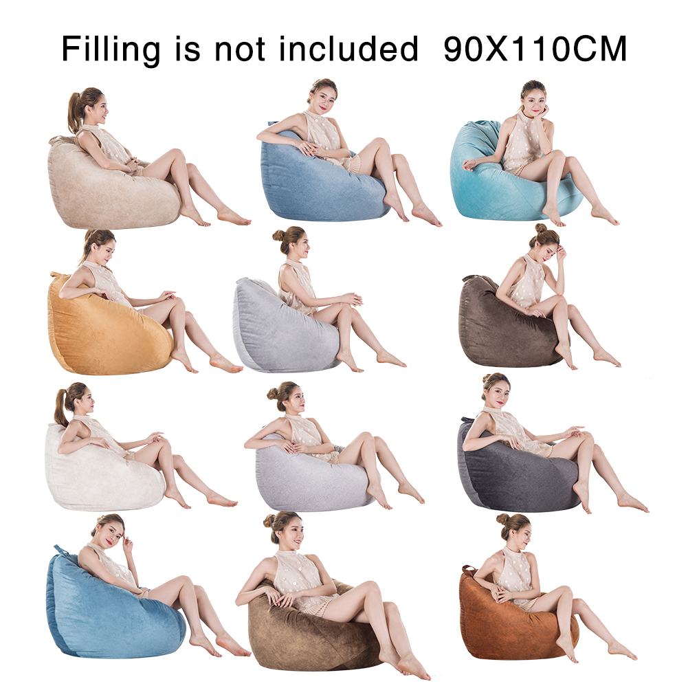 Bean Bag Cover Only, Washable Bean Bag Chair Replacement ...