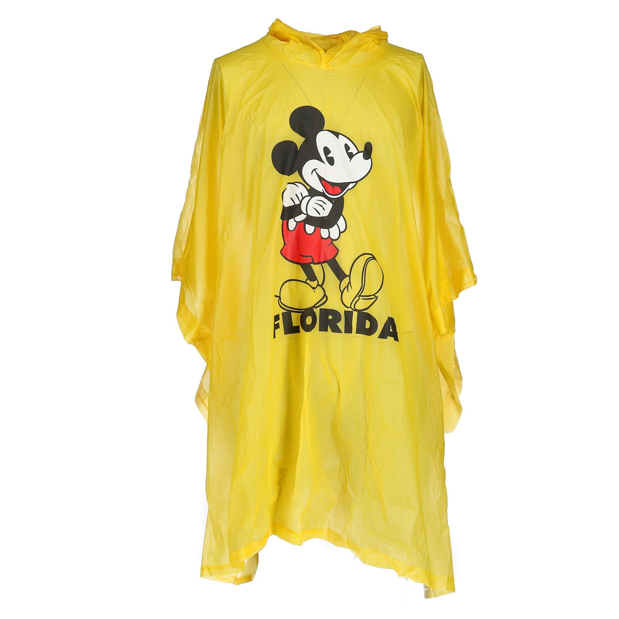 Disney Minnie Mouse Yellow Hooded  Rain Poncho YOUTH