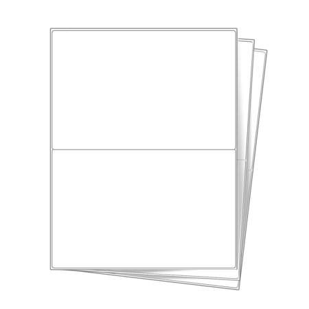 10 half sheet shipping mailing labels 85 x 55 inches for Half page shipping label template