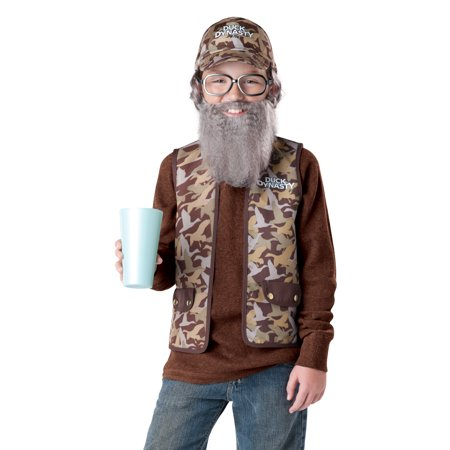 Uncle Si Duck Dynasty Beard Boys Kids Child Tv Show Halloween Costumes