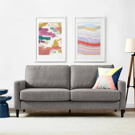 Dorel living kaci sofa gray walmartcom for Walmart grey sectional sofa