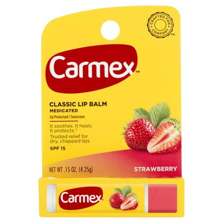 Cranberry Caramel - Carmex Click Stick Lip Balm, Strawberry