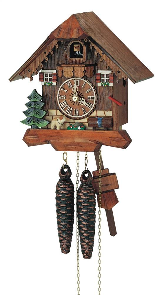 1-Day Black Forest Cuckoo Clock w Wooden Dial by Schneider Cuckoo Clocks