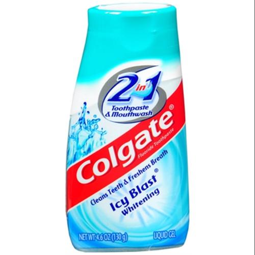 Colgate 2-in-1 Toothpaste and Mouthwash, Whitening, Icy Blast 4.60 oz (Pack of 6)
