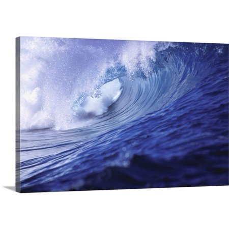 Great BIG Canvas Ric Ergenbright Premium Thick-Wrap Canvas entitled Fiji Islands, Tavarua, Cloudbreak, one of the best surfing
