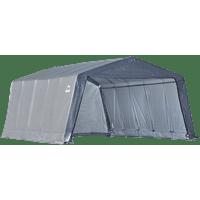 Shelterlogic Garage-in-a-Box 12' x 20' x 8' Peak Style Instant Garage, Gray