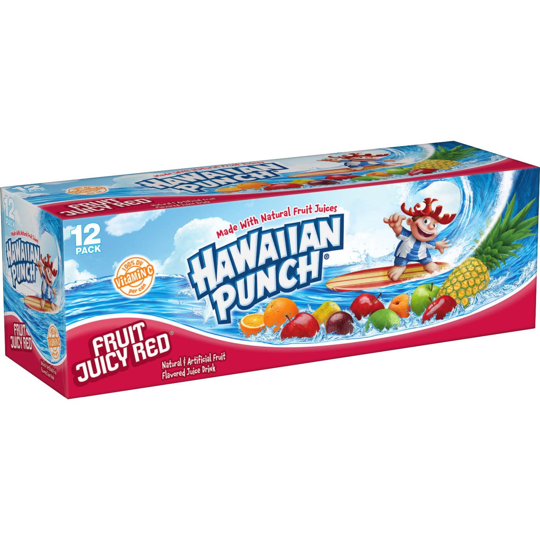 735383d7b354 Hawaiian Punch Gluten-Free Fruit Juicy Red Juice Drink, 12 Fl. Oz., 12 Count
