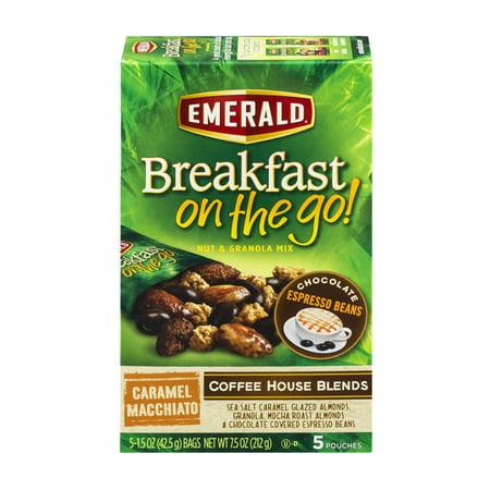 Emerald Breakfast On The Go  Nut   Granola Mix Coffee House Blends Caramel Macchiato   5 Ct