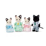 Calico Critters Tuxedo Cat Family, 4 Poseable Figures
