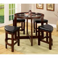 Crystal Cove I Quaint Virile 5 Piece Counter Height Table Set