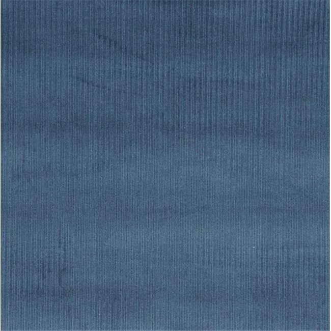Designer Fabrics E381 54 in. Wide Blue Corduroy Striped Velvet Upholstery Fabric