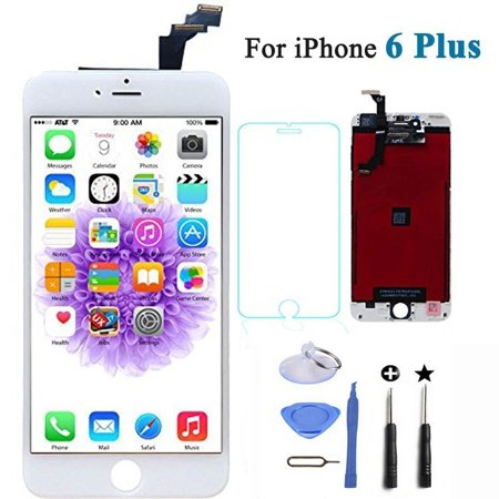 Touch Lcd Screens - iPhone 6 Plus Lcd Screen Replacement Display Touch Screen Frame for iPhone 6 Plus Digitizer White