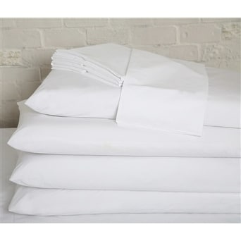 Image of Affluence Home Fashions Affluence Hospitality 200 Cotton/Polyester Flat Sheets (Sold in Dozens)