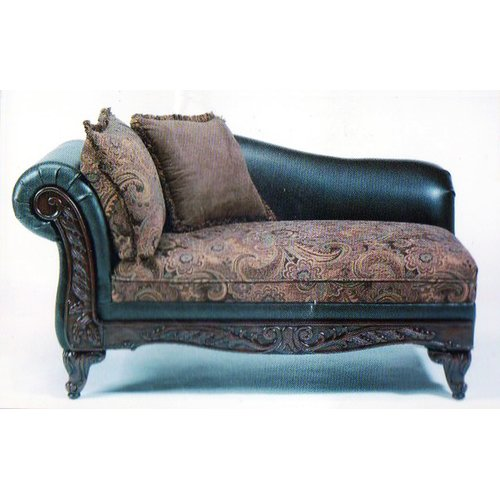 Roundhill Furniture San Marino 2-Tone Chocolate Microfiber Chaise