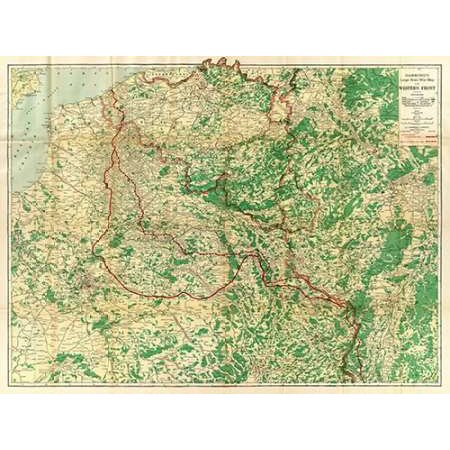 Hammonds Large Scale War Map of the Western Front 1917 Poster Print by CS Hammond