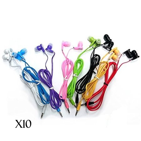 JustJamz 10 Pack 3.5mm Stereo In-Ear Earbud Headphones - Earphones (Assorted (Top 10 Best Buds)