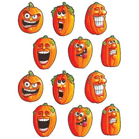 Set Of Wacky Jack-O-Lantern Halloween Themed Sticker Decorations - Halloween Decoration Themes