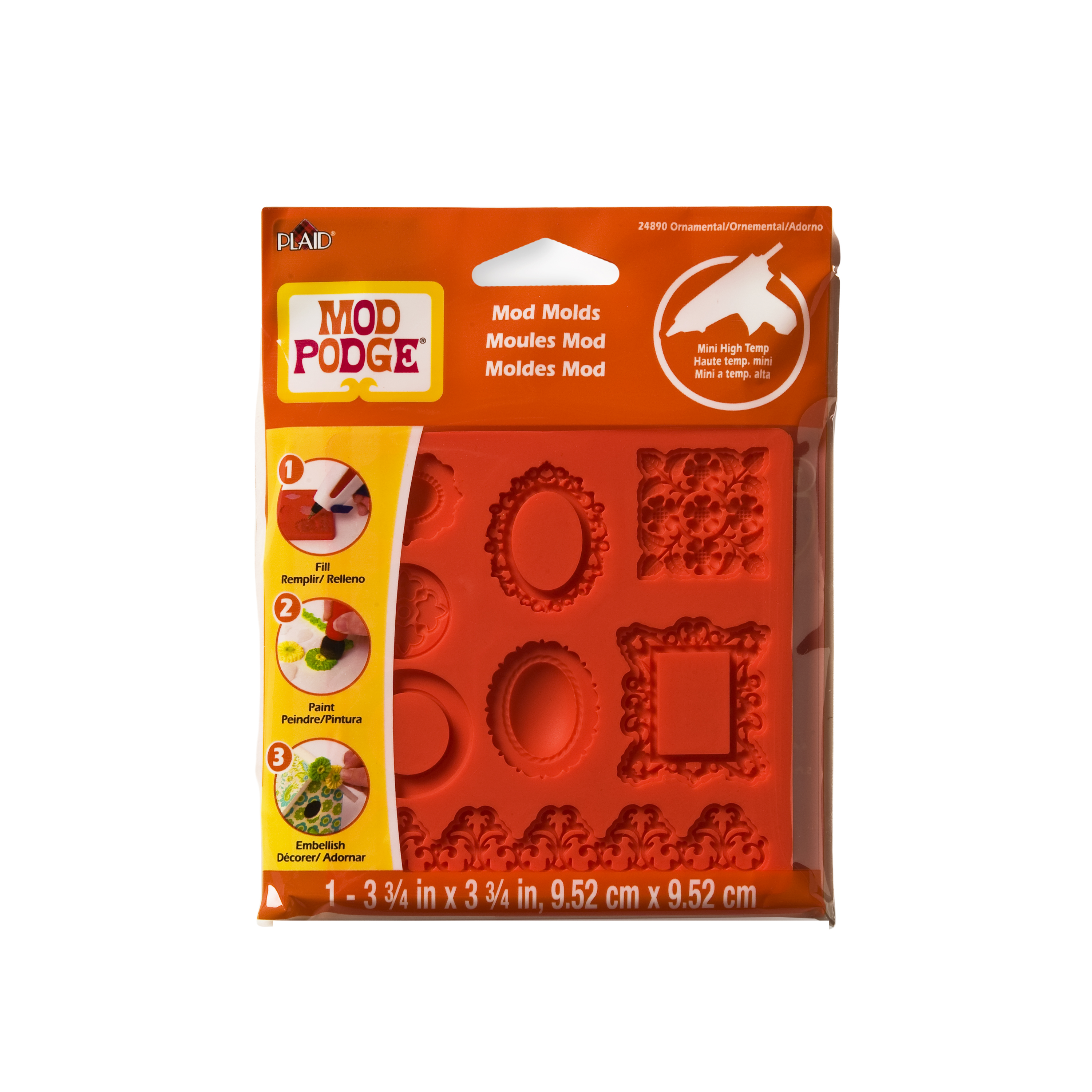 Mod   Podge Small Mod Mold by Plaid, Ornaments, 8 Designs