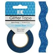 Best Creation Designer Glitter Tape 15mmX5m-Ocean Blue Wave
