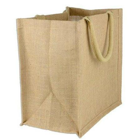 Squared Bottom Wholesale Burlap Bags | Jute Tote Bags with Full Gusset - TJ888