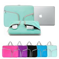 13'' Water-resistant Laptop Sleeve Case Bag,iClover Thickest Protective Zipper Slim Handle Laptop Case Cover for Macbook Apple Samsung Chromebook HP Acer Package Notebook Case Bag Green