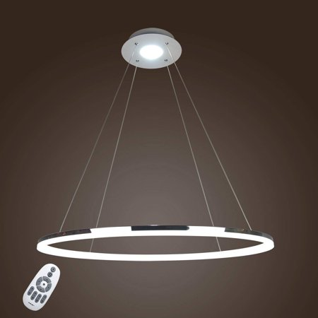 Lightinthebox Modern Ring Crystal Ceiling Pendant Lights Led Chandeliers Light Indoor Lighting Lamps Fixtures Dimmable With Remote Control