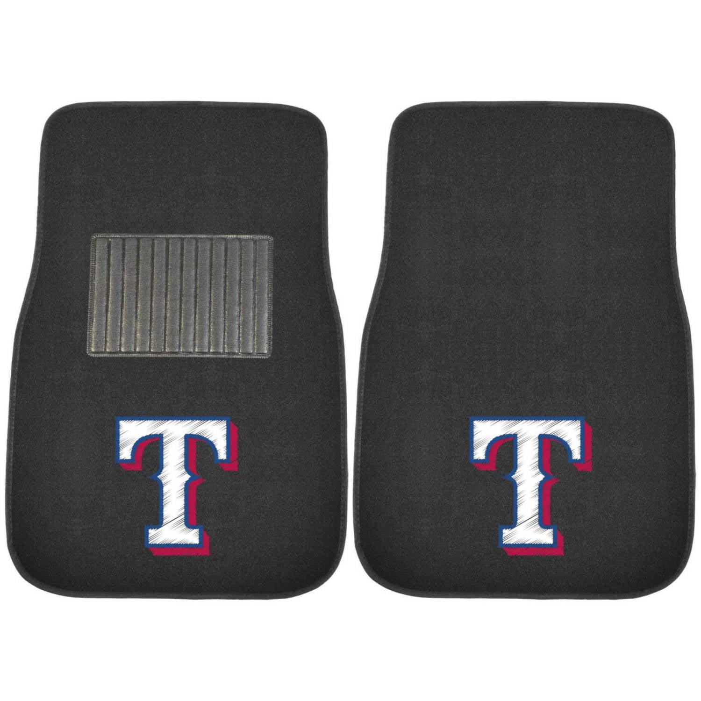 FanMats MLB Texas Rangers 2-Piece Embroidered Car Mats