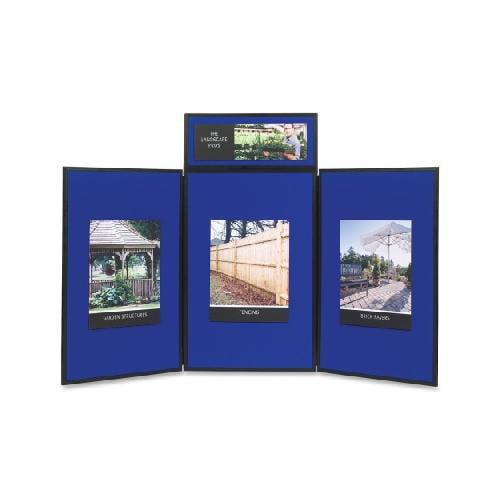 Quartet Show-It! 3-Panel Exhibition Display System QRTSB93513Q