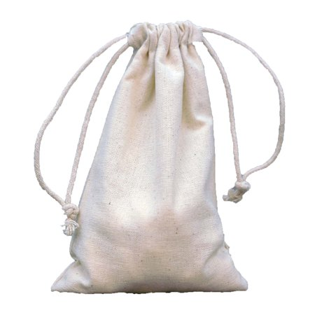 BalsaCircle 10 pcs Natural Cotton 4x6-Inch Favor Bags with Pull String - Wedding Party Jewelry Pouch Favors Candy Gift - Pull String Bags