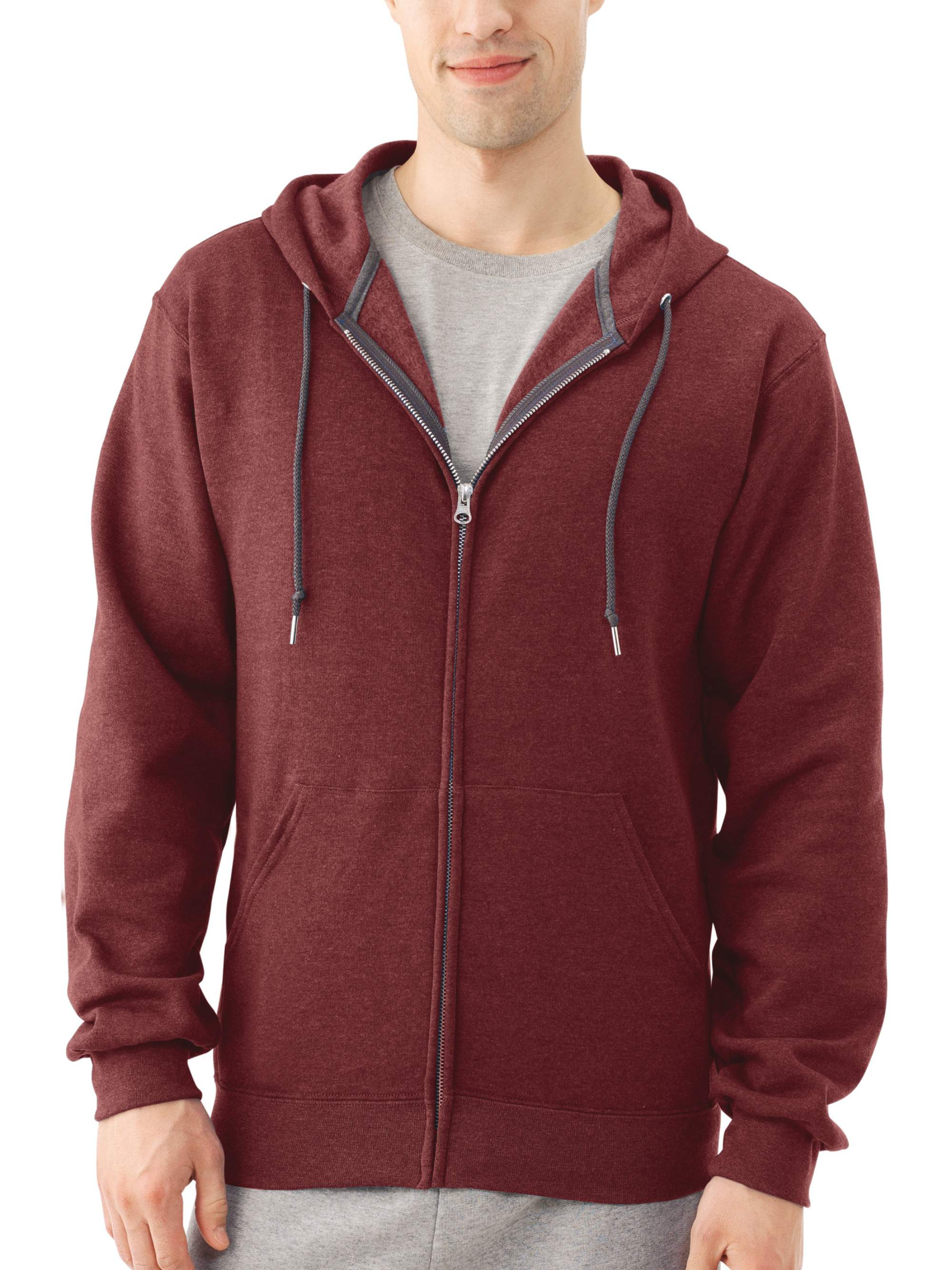 2d528d54 Fruit of the Loom - Fruit of the Loom Men's Dual Defense EverSoft Fleece Full  Zip Hooded Sweatshirt - Walmart.com