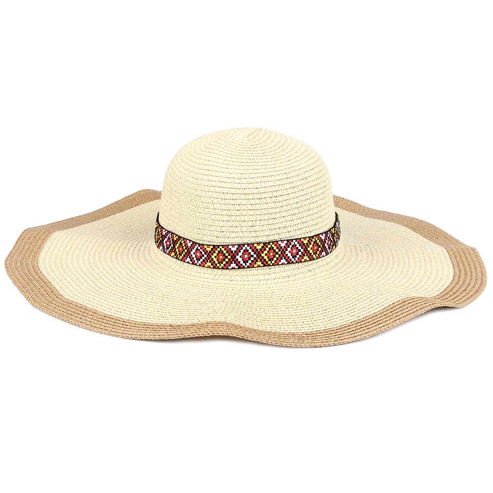 89d0e5e6347ca7 Straw Sun Hat-Vbiger Women Straw Sun Hat Foldable Wide Brim Hat ...