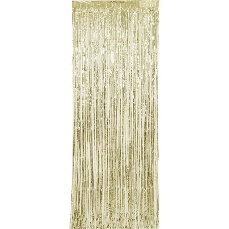 Gold Streamer ((2 pack) Gold Foil Fringe Door Curtain, 3ft x)