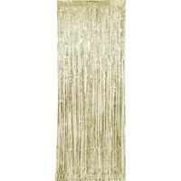 Gold Foil Fringe Door Curtain, 3ft x 8ft