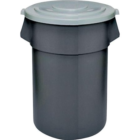 (Huskee Round Refuse Trash Receptacle, 44 gal, 24 in Dia x 31-1/2 in L, Plastic)