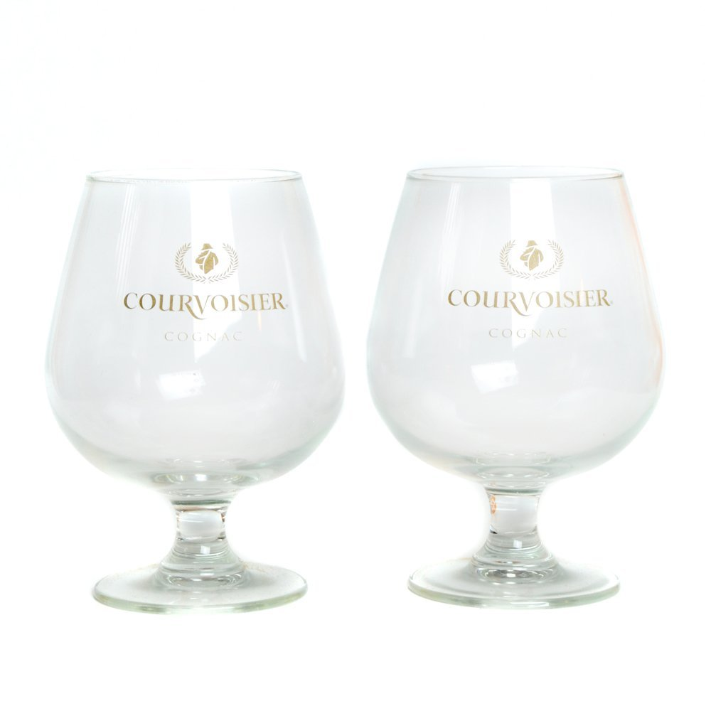 Two Courvoisier Snifter Cognac Glasses, Ship from USA,Brand Arc International by