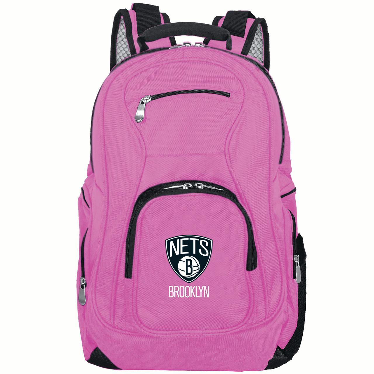 NBA Brooklyn Nets Pink Premium Laptop Backpack