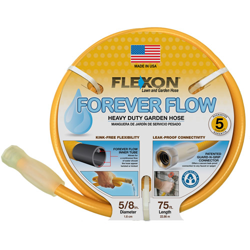 "Flexon Garden 5 8"" x 50' Forever Flow Garden Hose, Beeswax by Flexon Industries"