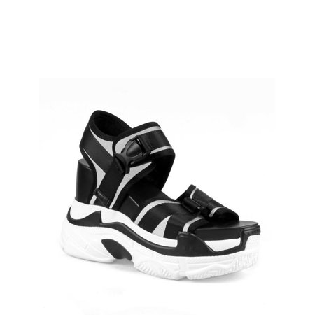 97092561ba3 Anthony Wang - Anthony Wang Platform Women s Sandals in Black - Walmart.com