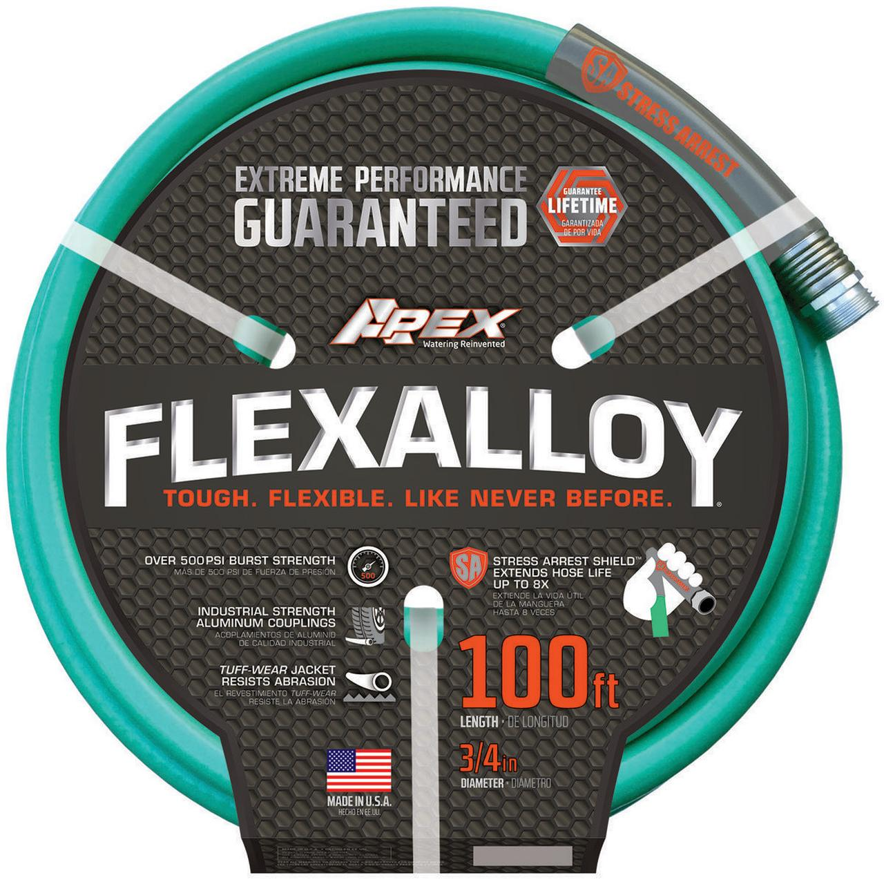 Flexalloy 9550-100 Garden Hose With Power Coil, 3 4 in OD x 100 ft L by Garden Hoses*