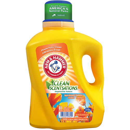 Arm & Hammer Clean Scentsations Sun-Kissed Flowers Liquid Laundry Detergent, 81 loads, 122.5 fl oz
