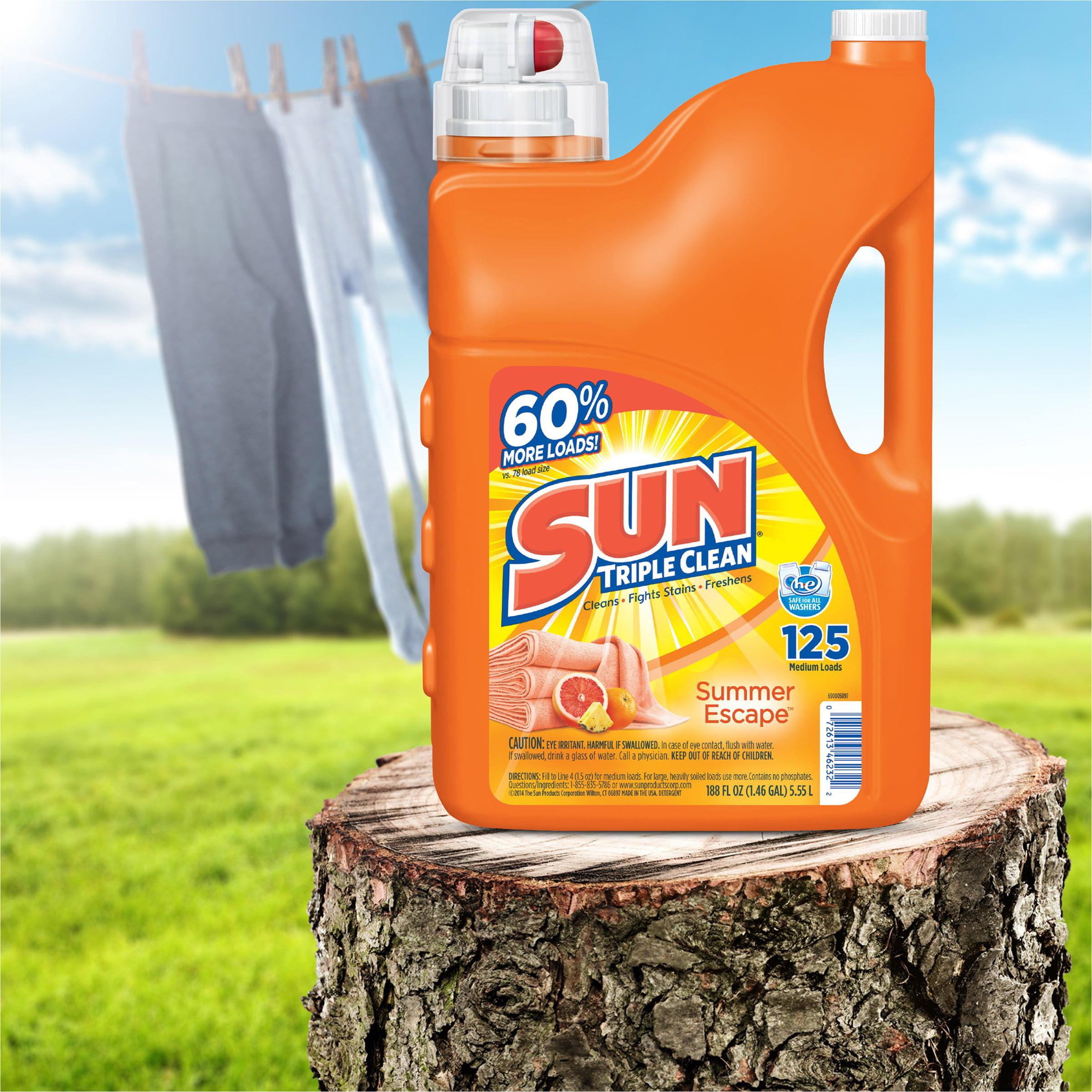 Sun Triple Clean Laundry Detergent Summer Escape 125