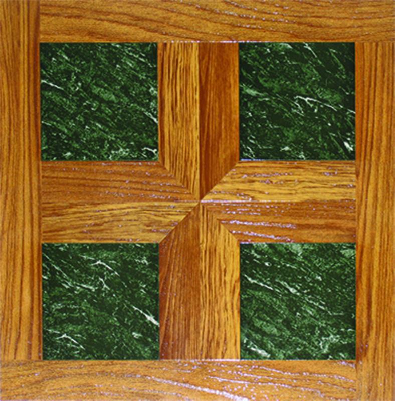 Home Dynamix Dynamix Vinyl Tile 16'' x 16'' Luxury Vinyl Tiles in Paramount Woodtone/Green Marble