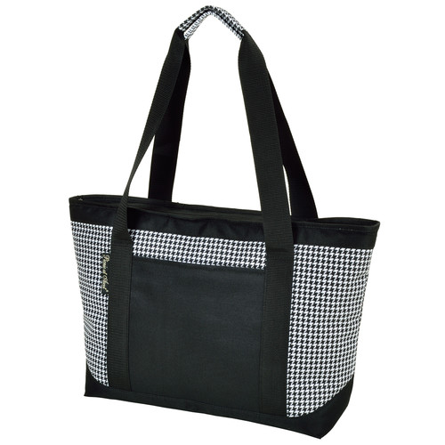 Large Insulated Cooler Bag in Houndstooth
