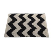 Artim Home Textile Chevron Black/Beige Area Rug
